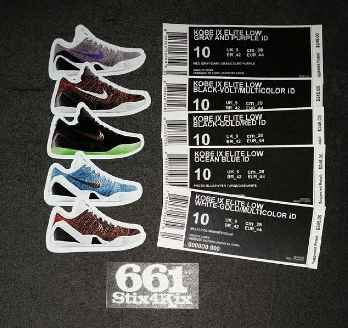 Custom Nike iD Shoebox Label / 661Stix4Kix