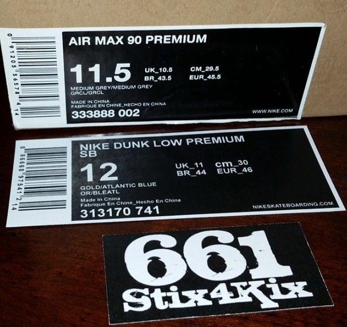 LARGE Nike Shoebox Label (for custom sneaker storage boxes ...