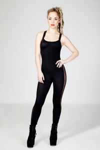 Image of CELINE Crossback Catsuit in BLACK