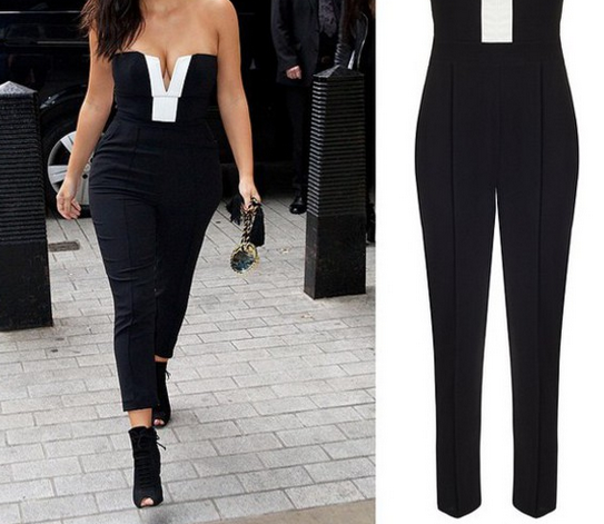 Image of Hot black and white jumpsuit