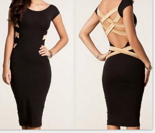 Image of Cute backless sexy dress