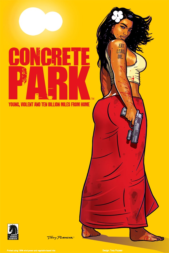 "Image of Concrete Park™ ""Eat Lead, Die"" poster by Tony Puryear - Litho 24""x36"" Signed"