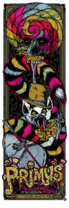 Image of PRIMUS WONKA gigposter - candy concert version