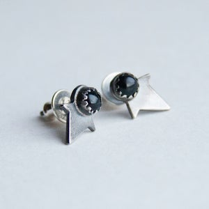 Image of Onyx Star Studs