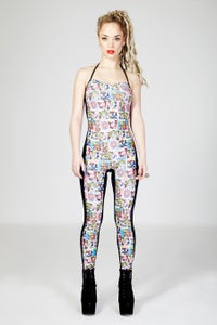 Image of NICO Halter Neck Catsuit in COMICBOOK Digital Print
