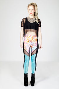 Image of NYOKA Leggings in HOLOGRAPHIC TIE DYE
