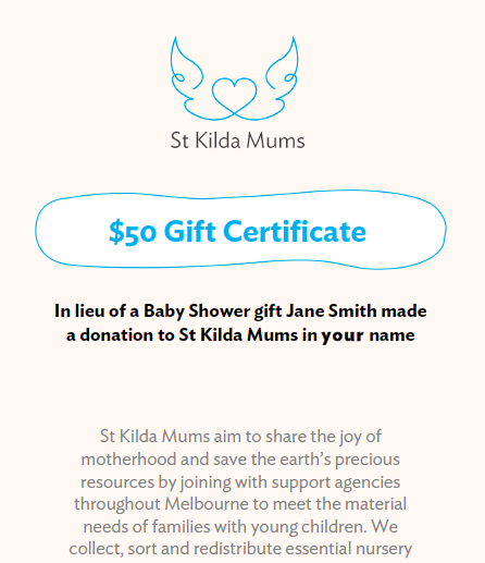 Image of Buy a $50 Gift Certificate