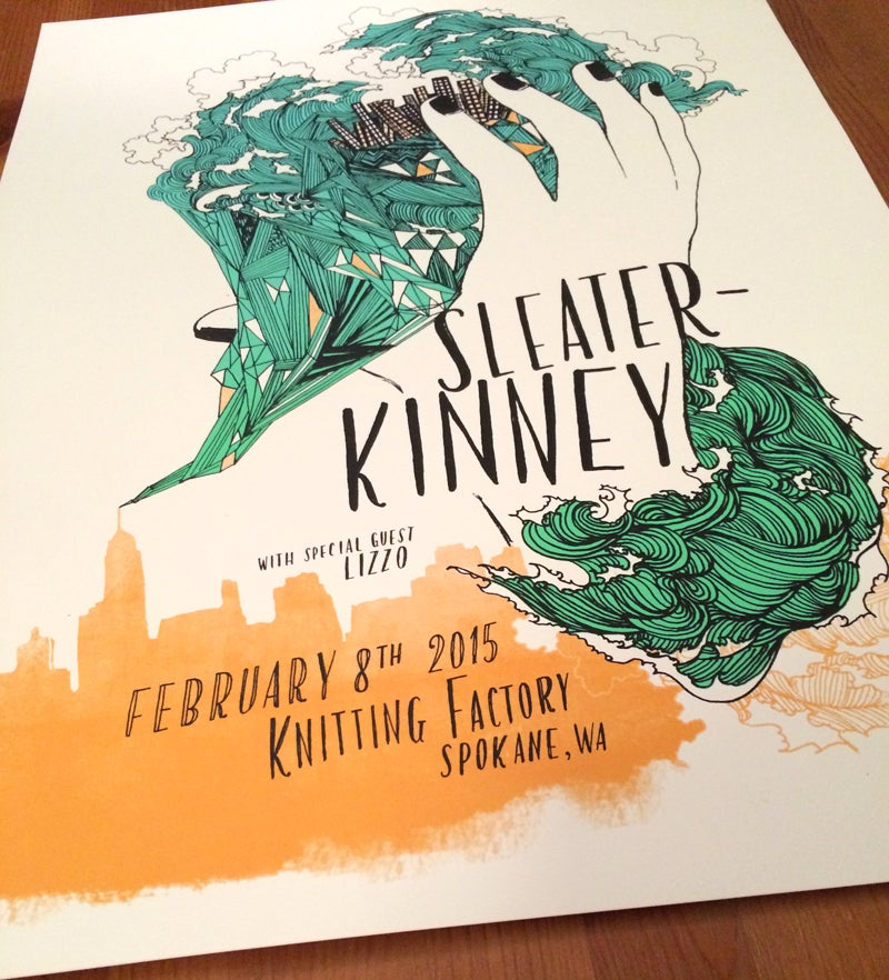 Image of Sleater-Kinney / February 8 / Spokane, WA