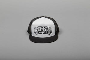 Image of B4FRVR TEXT TRUCKER HAT