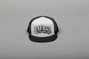 Image of B4FRVR TEXT TRUCKER HAT
