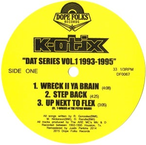 "Image of K-OTIX ""DAT SERIES VOL.1 1993-1995""  SOLD OUT"