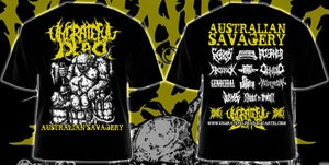 Image of Ungrateful Dead Promotions 'Australian Savagery' T-shirt