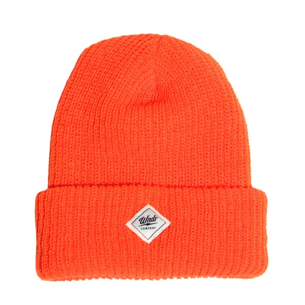 Image of Orange Ribbed Cuff Beanie