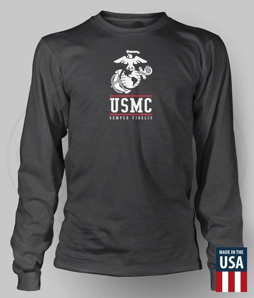 Image of USMC-EGA Long Sleeve Performance Shirt