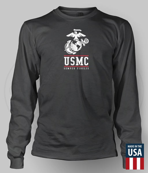 Image of USMC-EGA Long Sleeve Performance Shirt