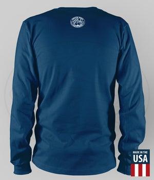 "Image of USMC - EGA ""HONOR. COURAGE. COMMITMENT."" Performance LS Shirt"
