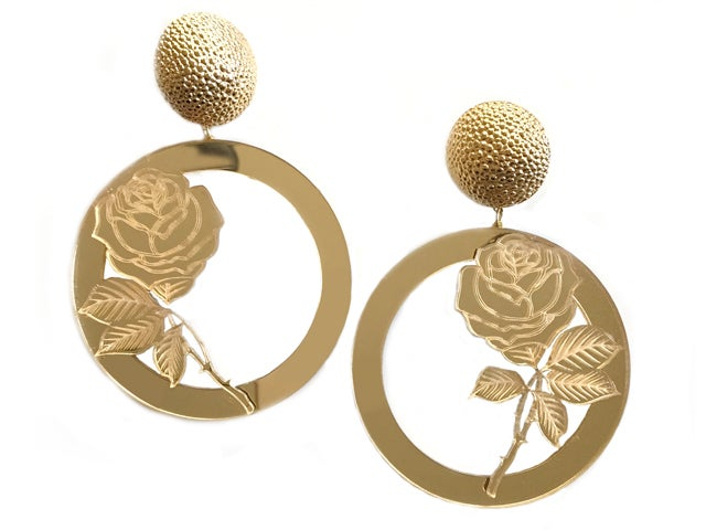 Image of Concrete Rose Earrings