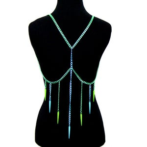 Image of Adella Colored Body Chain Harness, SA493