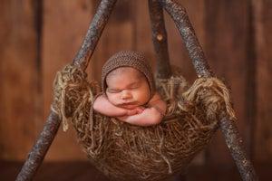 Image of Woodsy Wonders Woodland Nesting Pod, Rustic Newborn Photography Prop