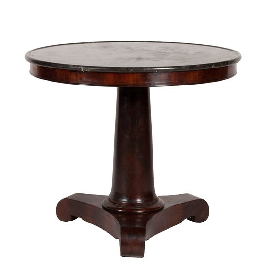 Image of Antique Table with Marble Top