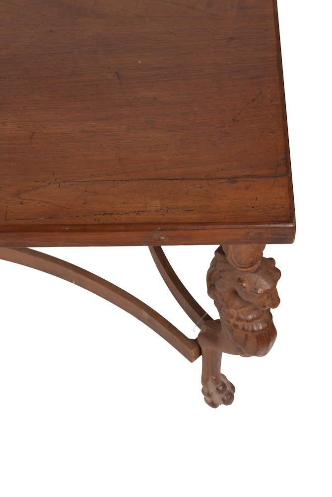 Image of Coffee Table with Iron Dragon Legs