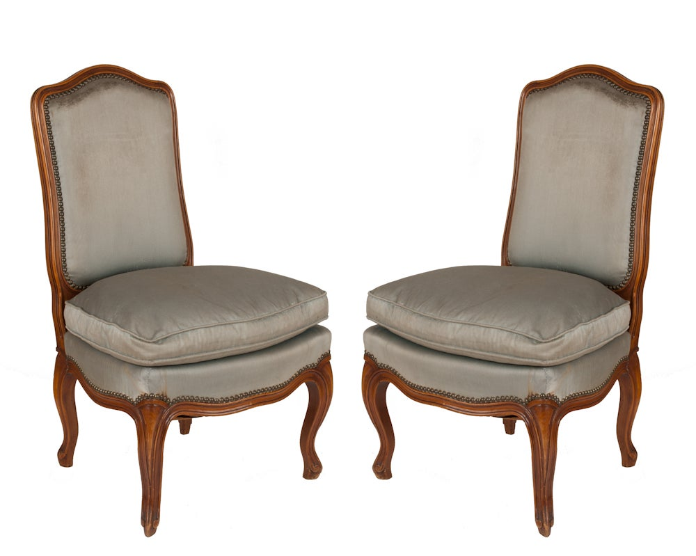 Image of Pair of Boudoire Chairs from France