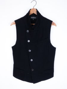 Image of Ann Demeulemeester - FW08 Layered Felted Flannel Vest