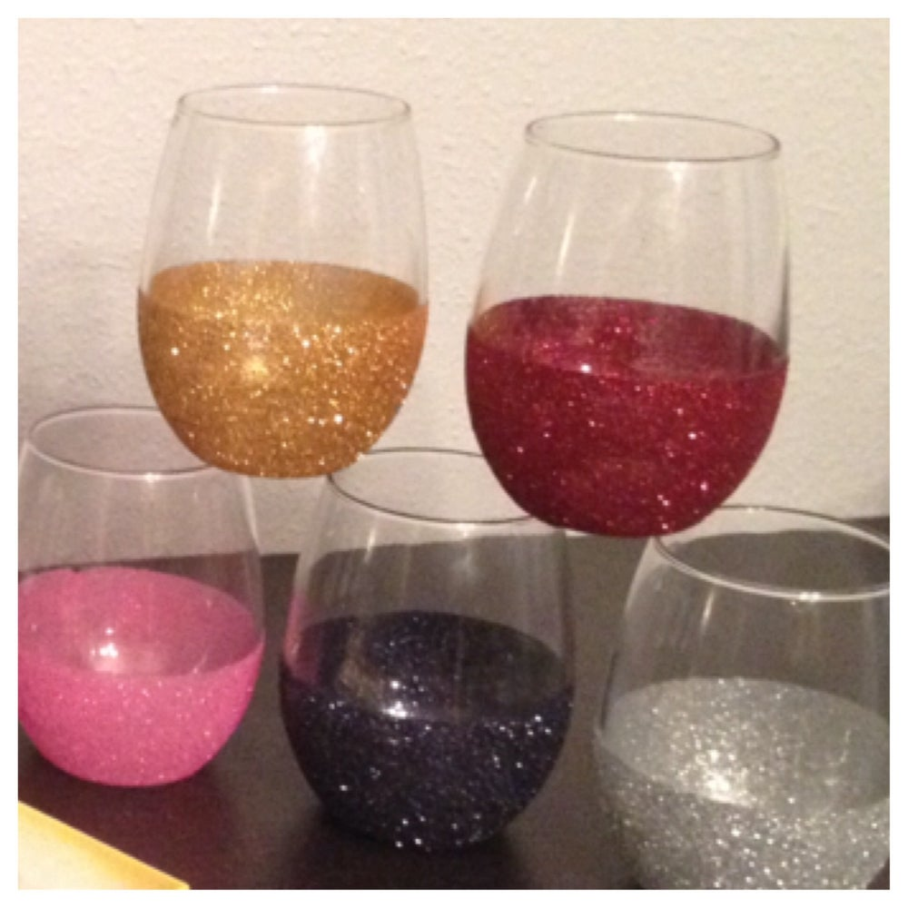 Glitter stemless wine glass sadie and tenell How to make wine glasses sparkle