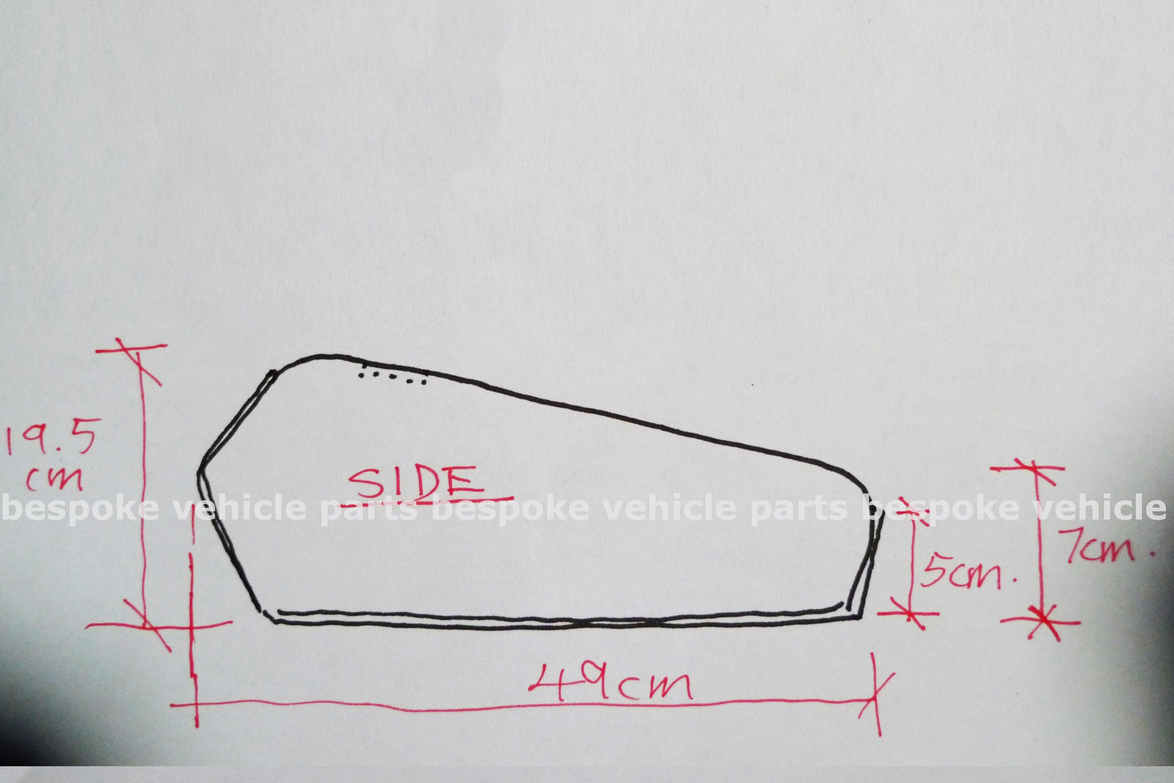Cafe Racer Honda Cg125 Fuel Tank Gas Tank Golden Cg
