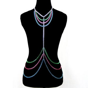 Image of Piper Candied Body Chain Harness