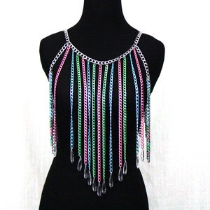 Image of Olivia Candied Fringe Body Chain Harness