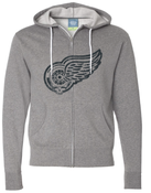 Image of Grateful Wings Zip Hoodie (distressed print)