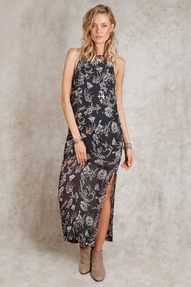 Image of Chan Luu Floral Print Maxi Dress