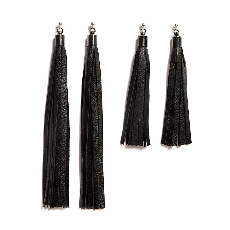 "Image of ""Flow"" Leather Tassel Earrings"