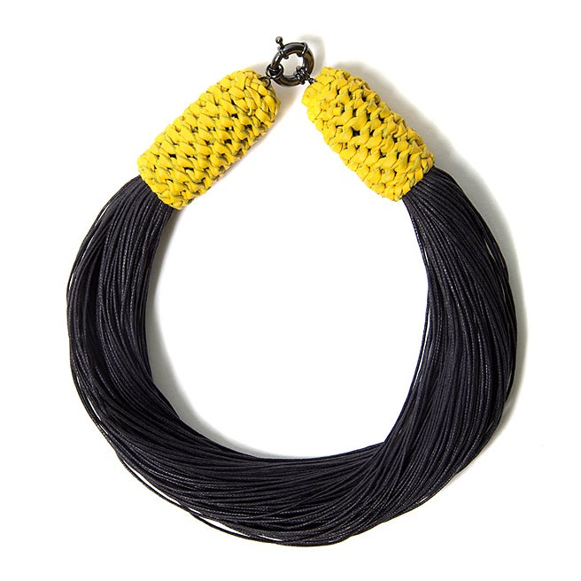 "Image of ""Tropics"" Black & Yellow Neckpiece"