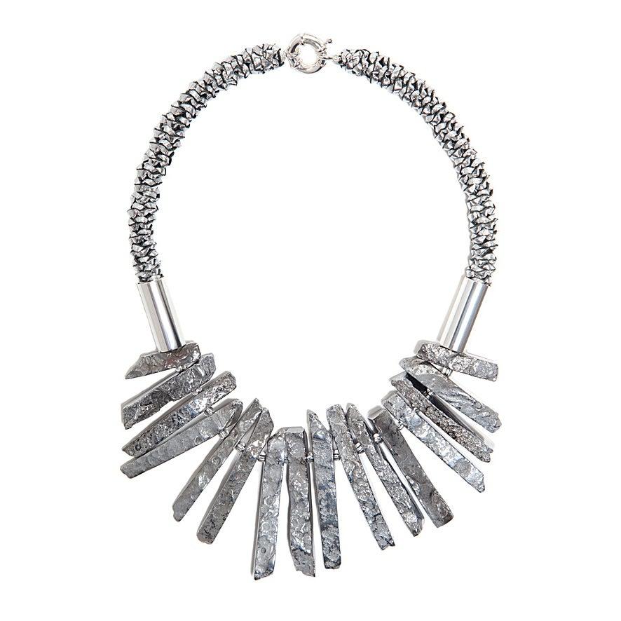 "Image of Silver ""Shard"" Neckpiece"