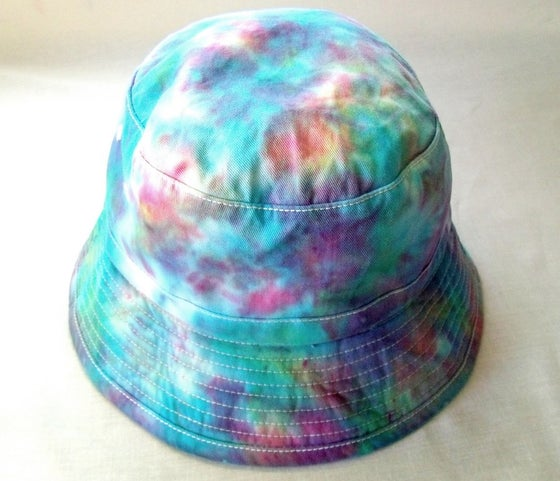Image of Pastel tie dye bucket hat