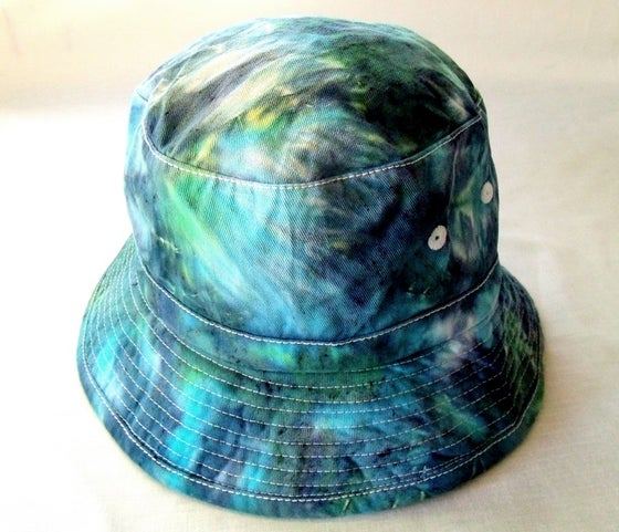 Image of Aqua dreams tie dye bucket hat