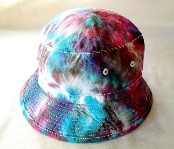 Image of Electric tie dye bucket hat