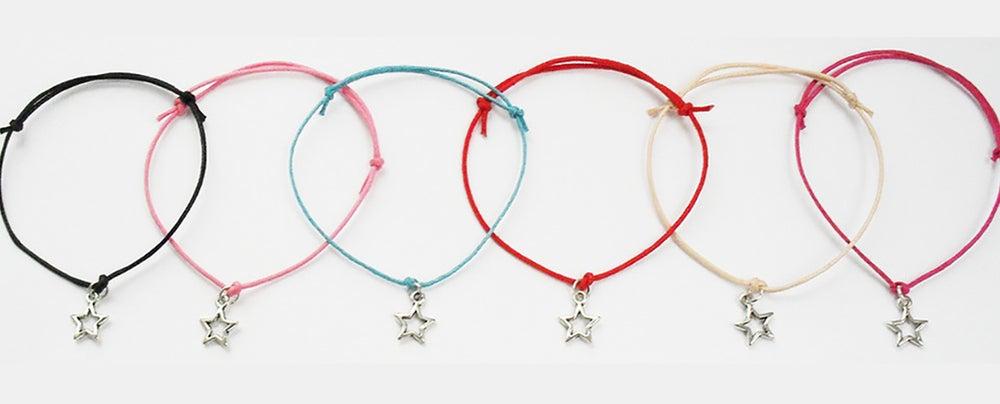 Image of Star Cord Charm Bracelet
