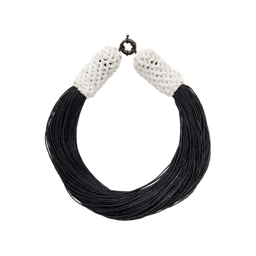 "Image of ""Tropics"" White & Black Neckpiece"