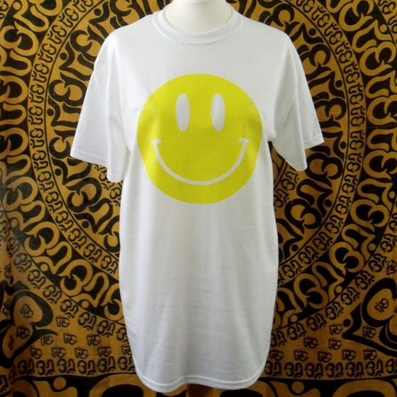 Image of White Acid house smiley t-shirt