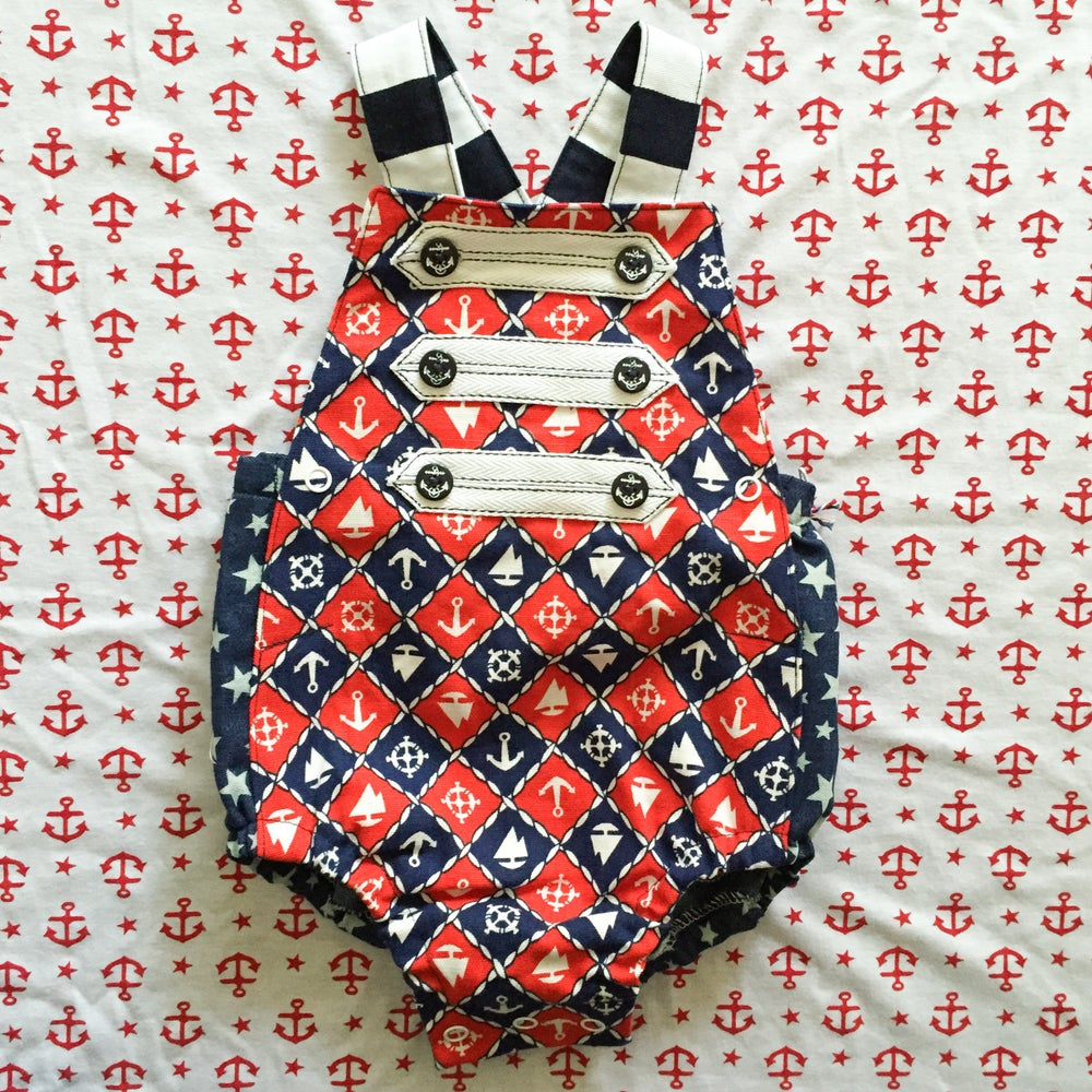Image of 'drop anchor' rompers Size 0