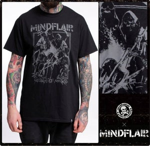 """Image of MINDFLAIR """"scourge of mankind"""" Shirt (only a few L)"""