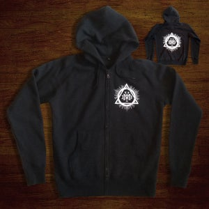 Image of Triad Zip hoody (Black)