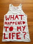 Image of WHTML striped Heather Tank Top- RED