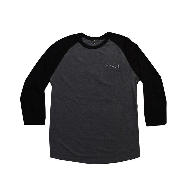 Image of Script Raglan T-shirt