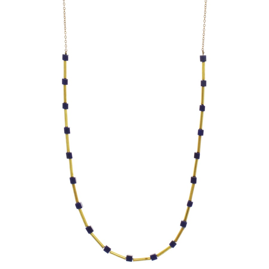 Image of LAPIS CUBE CHAIN
