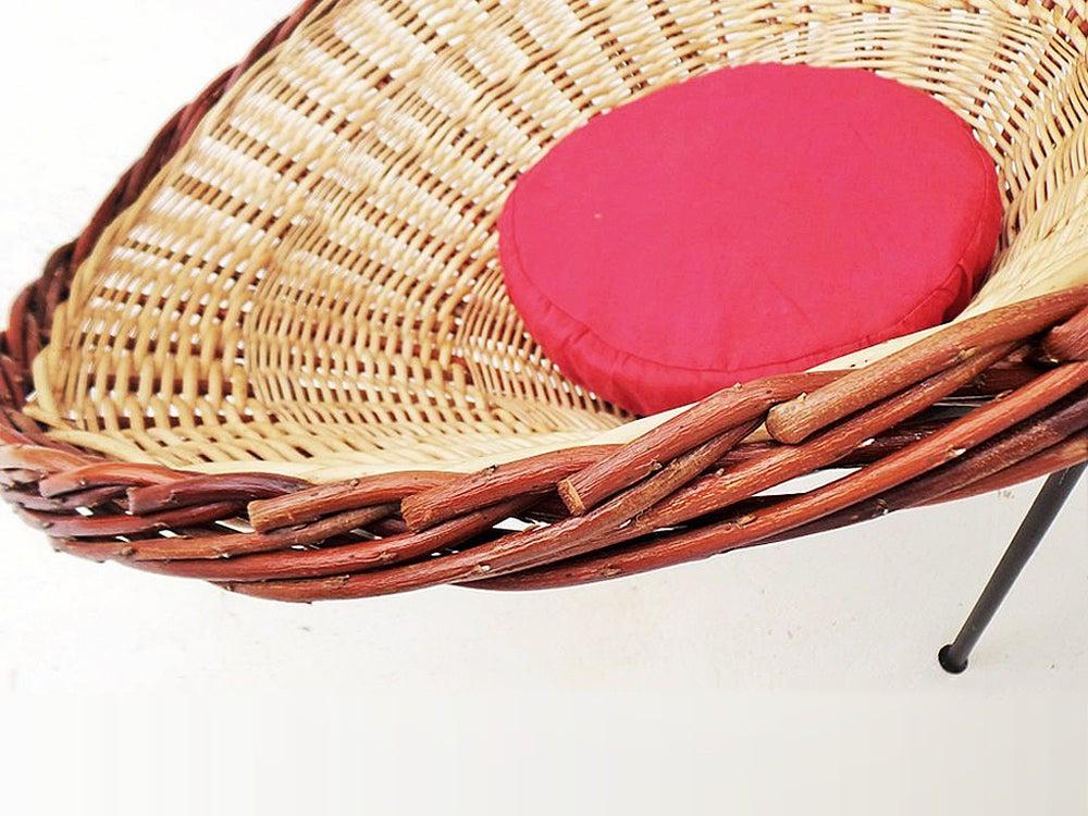 Image of Fauteuil osier design 50'