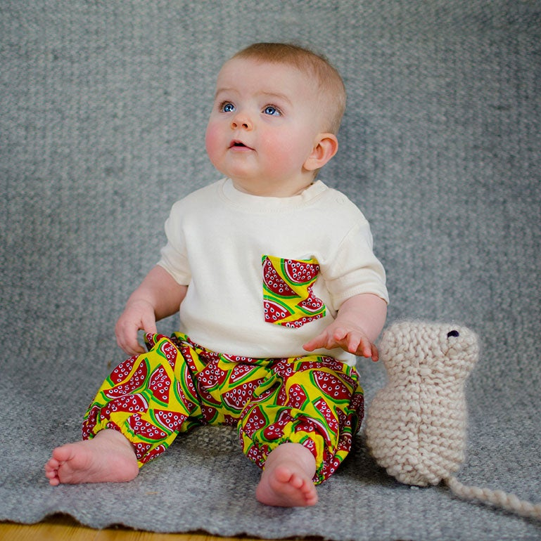 Image of Watermelon organic baby tee